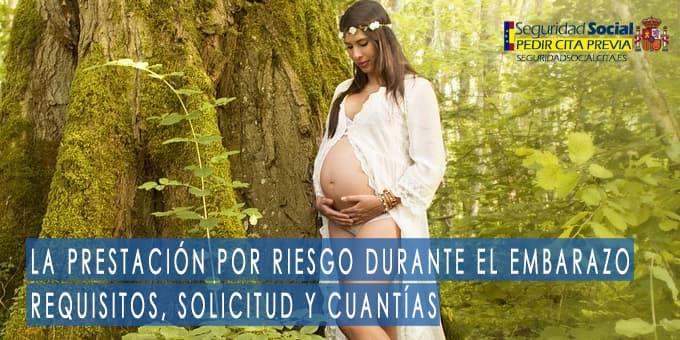 Prestación por riesgo durante el embarazo